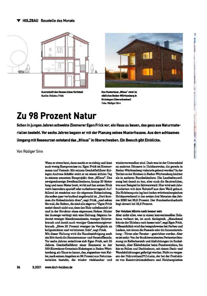 8HAUS - zu 98 Prozent Natur_dach-holzbau